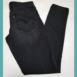 Levi's Gray Demi Curve Modern Rise Skinny Jeans